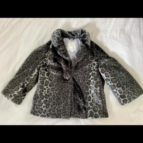 Kate Spade Faux Fur, Animal Print Jacket, Size M